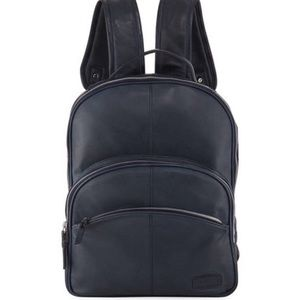 Joes Men's Black Leather Backpack